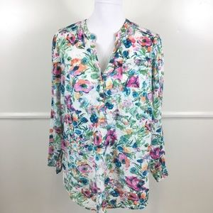 Lane Bryant Floral Henley Womens Plus 18/20